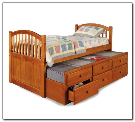 Wood Trundle Bed Frame