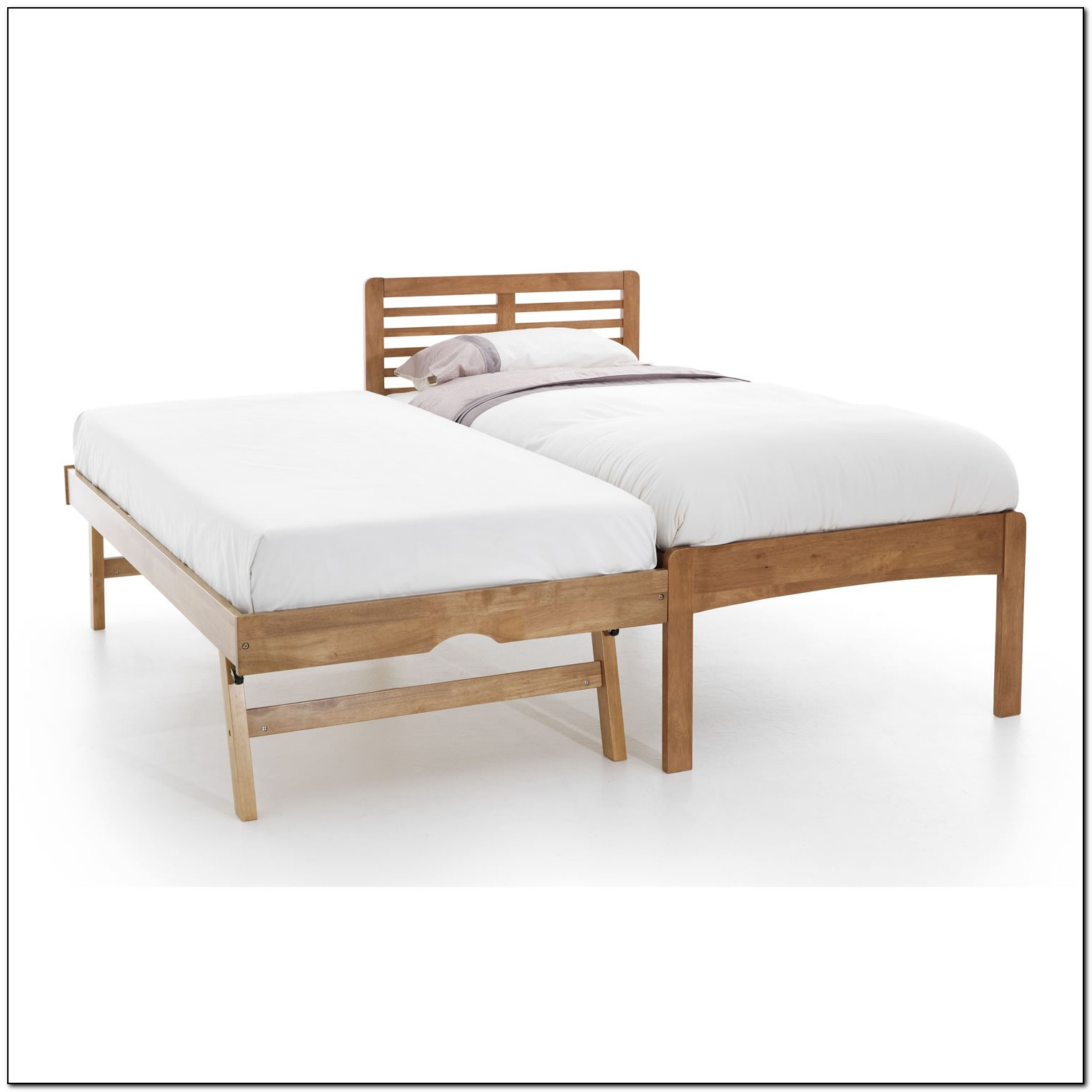 Wooden Trundle Bed Frame