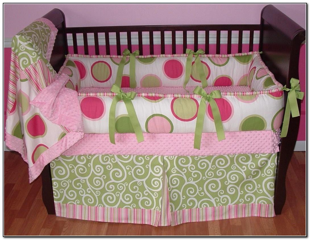 Baby Girl Crib Bedding Sets Pink And Green