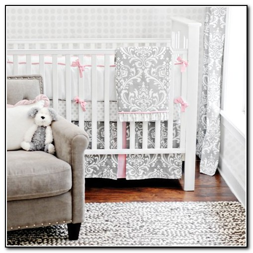Baby Girl Nursery Bedding Gray