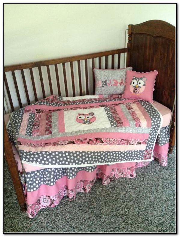 Baby Girl Owl Crib Bedding Sets