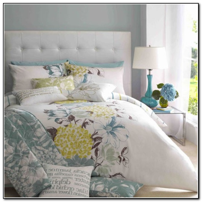Blue Yellow And Grey Bedding