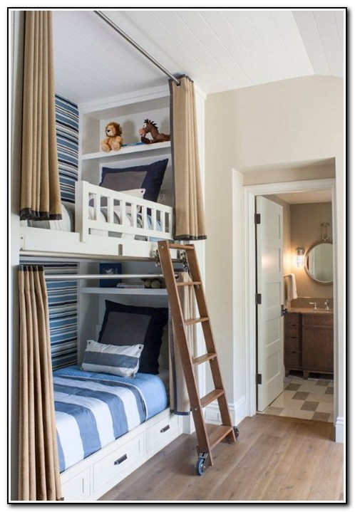 Built In Bunk Beds With Curtains