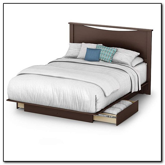 Full Platform Bed With Headboard