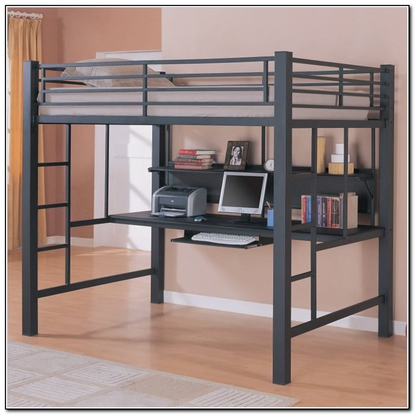 Full Size Loft Bed With Desk Ikea
