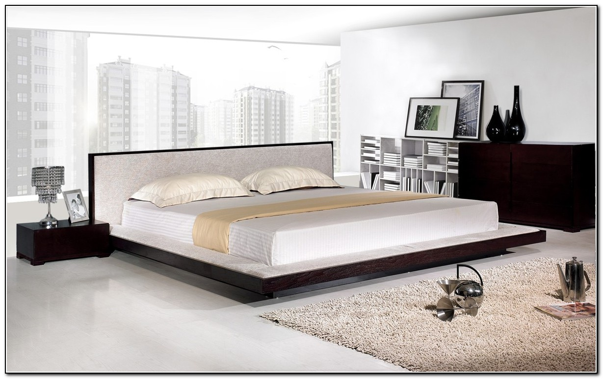 Full Size Platform Bed With Mattress