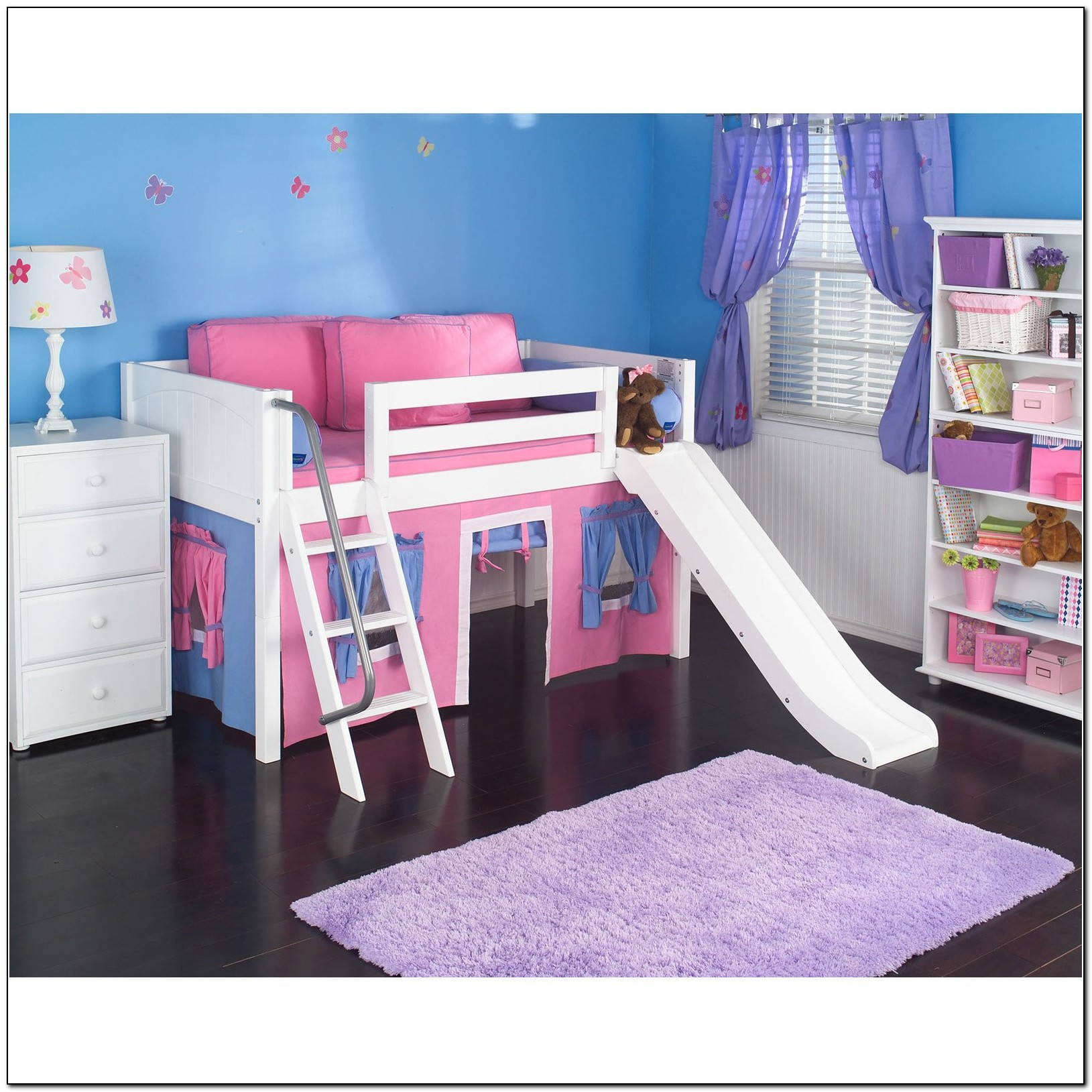 Girls Loft Bed With Slide