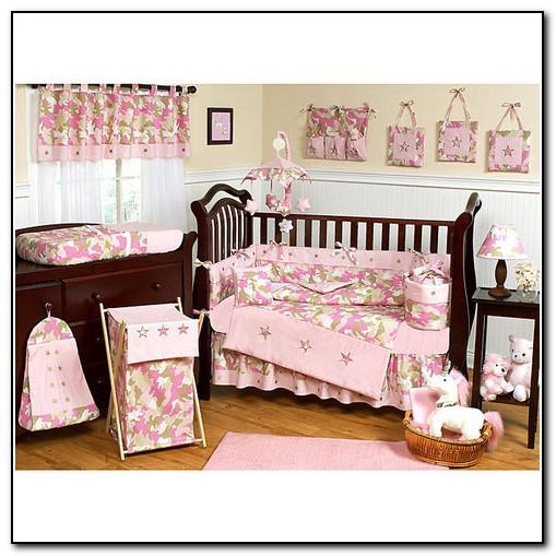 Hot Pink Camo Crib Bedding