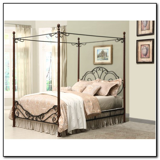 King Canopy Bed Metal