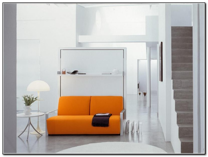 Modern Murphy Bed With Couch