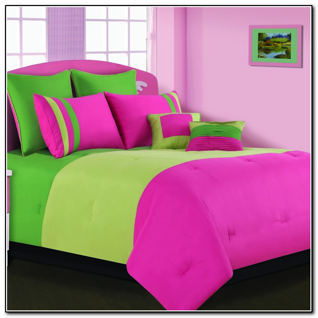 Pink And Lime Green Bedding Sets