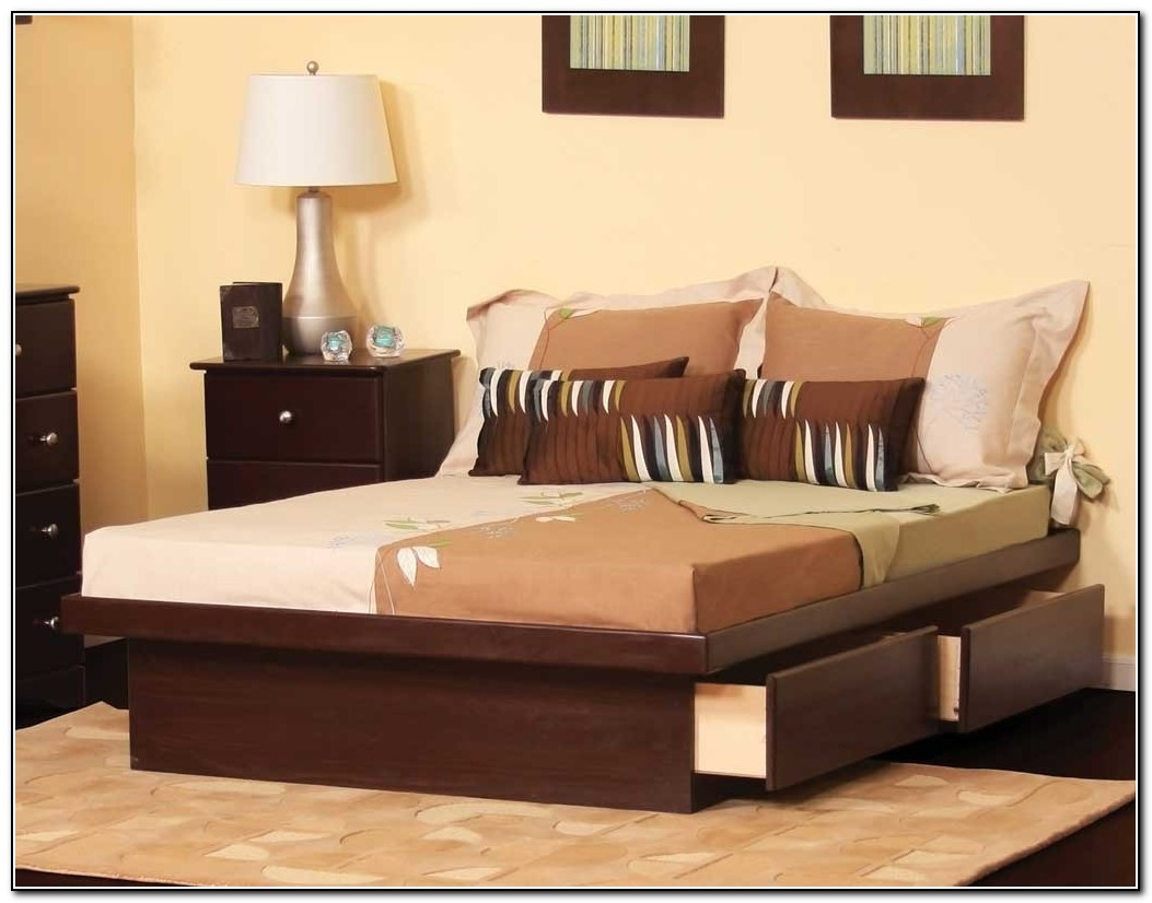 Platform Bed With Drawers Queen Size