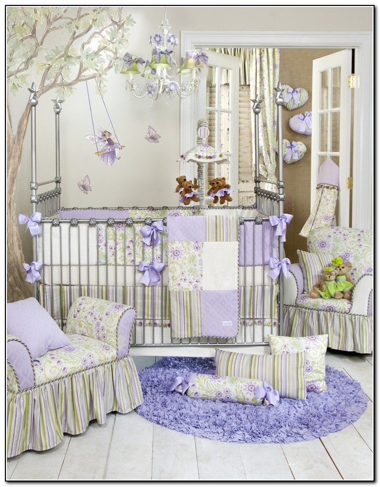 Purple Baby Crib Bedding Sets