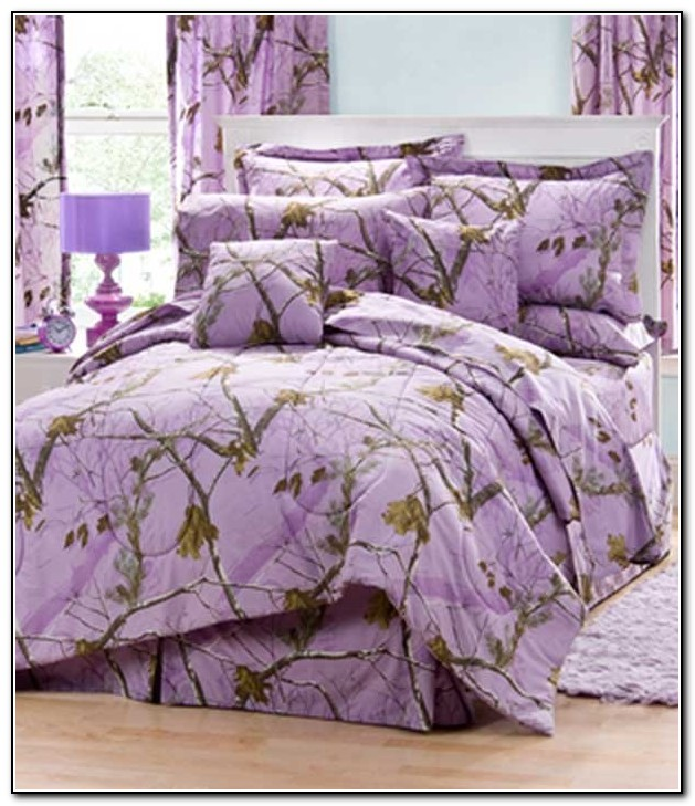 Purple Camo Crib Bedding