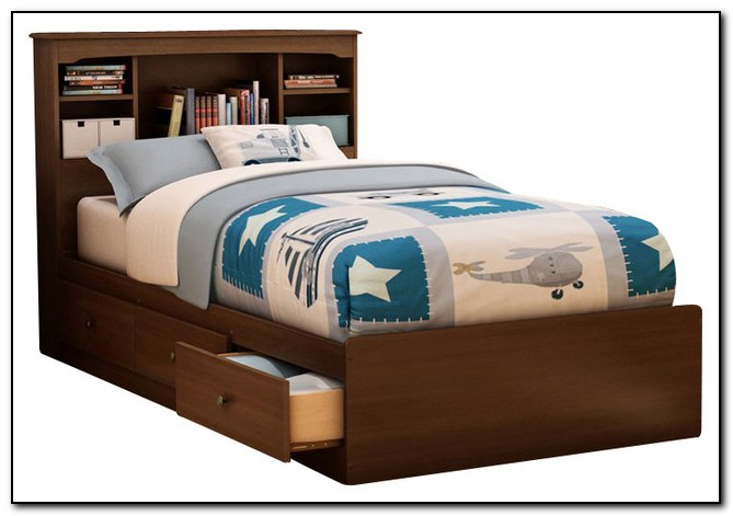 Twin Size Bed Frame With Storage