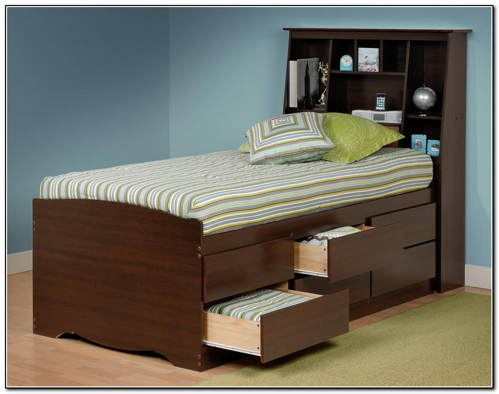 Twin Storage Bed With Drawers