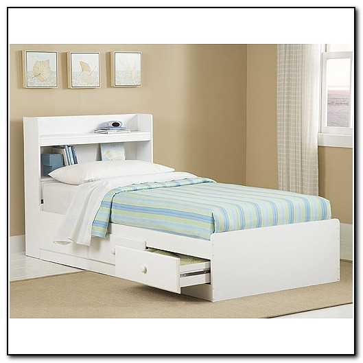 Twin Storage Bed With Headboard