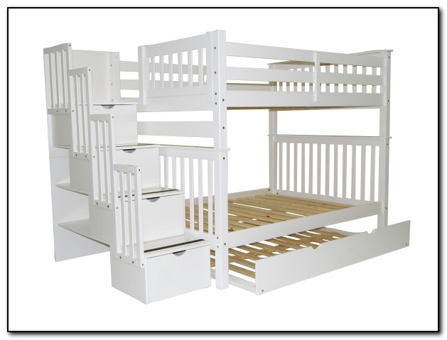 White Bunk Beds With Trundle