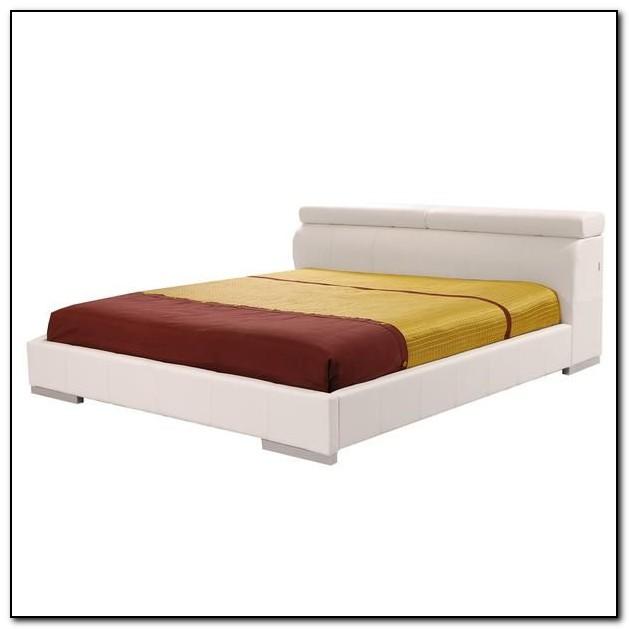 White Full Platform Bed