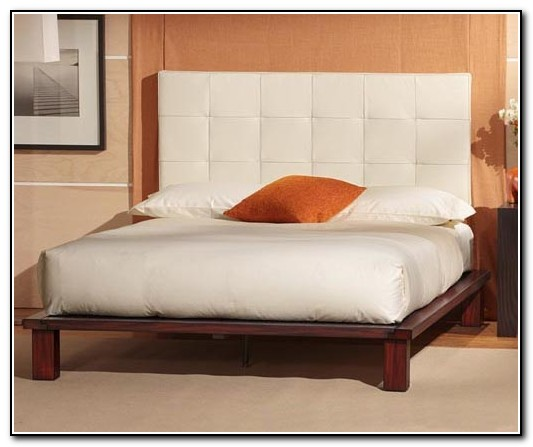 White Platform Bed Without Headboard