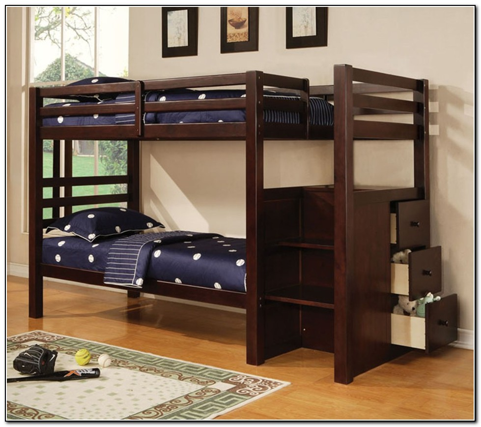 Wood Bunk Beds Twin Over Twin