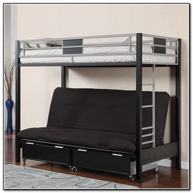 Wood Futon Bunk Beds