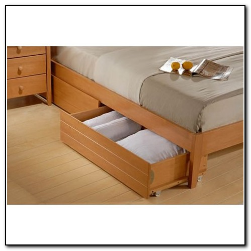 Wooden Under Bed Drawers