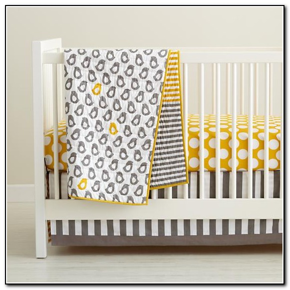 Yellow And Grey Bedding For Nursery