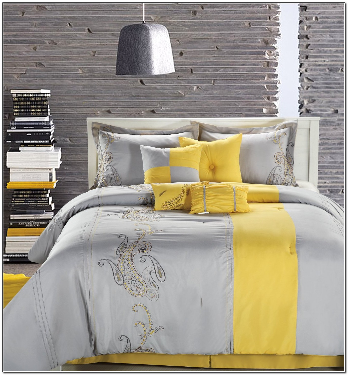 Yellow And Grey Bedding King