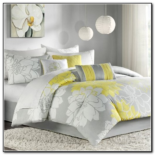 Yellow And Grey Bedding Queen