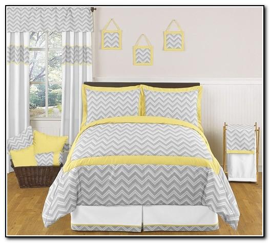 Yellow Chevron Bedding Set