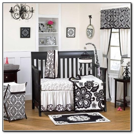 Black And White Toddler Bedding