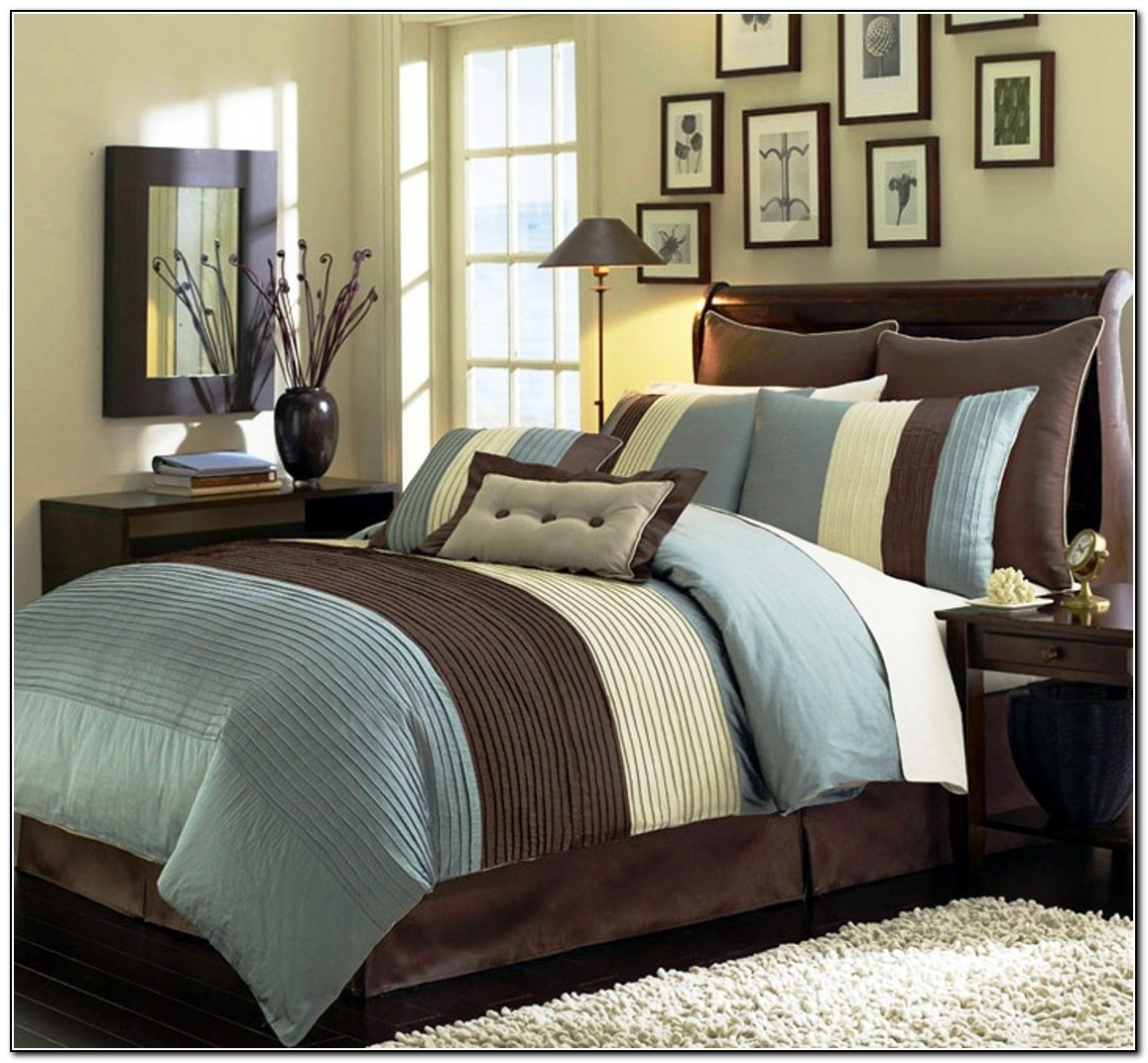 Brown And Blue Bedding Collections