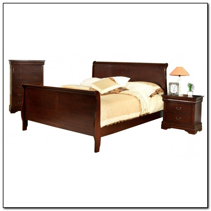 Cherry Queen Sleigh Bed