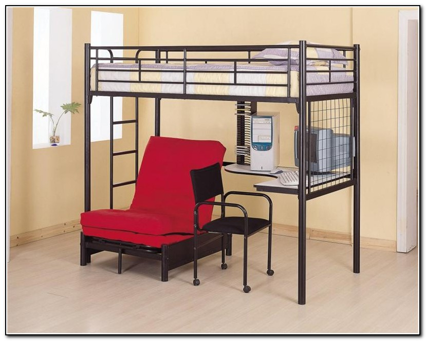 Double Bunk Beds With Desk Underneath