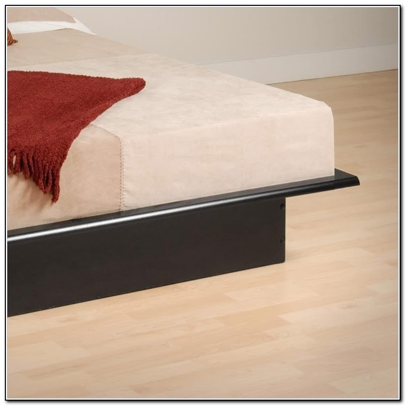 Full Black Platform Bed