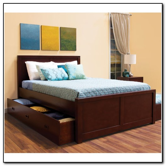 Full Size Bed With Trundle And Storage