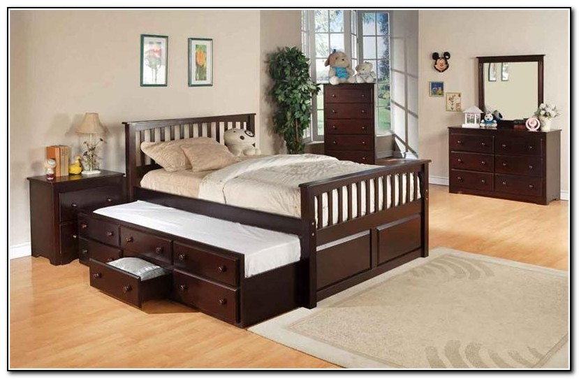 Full Trundle Bed With Drawers