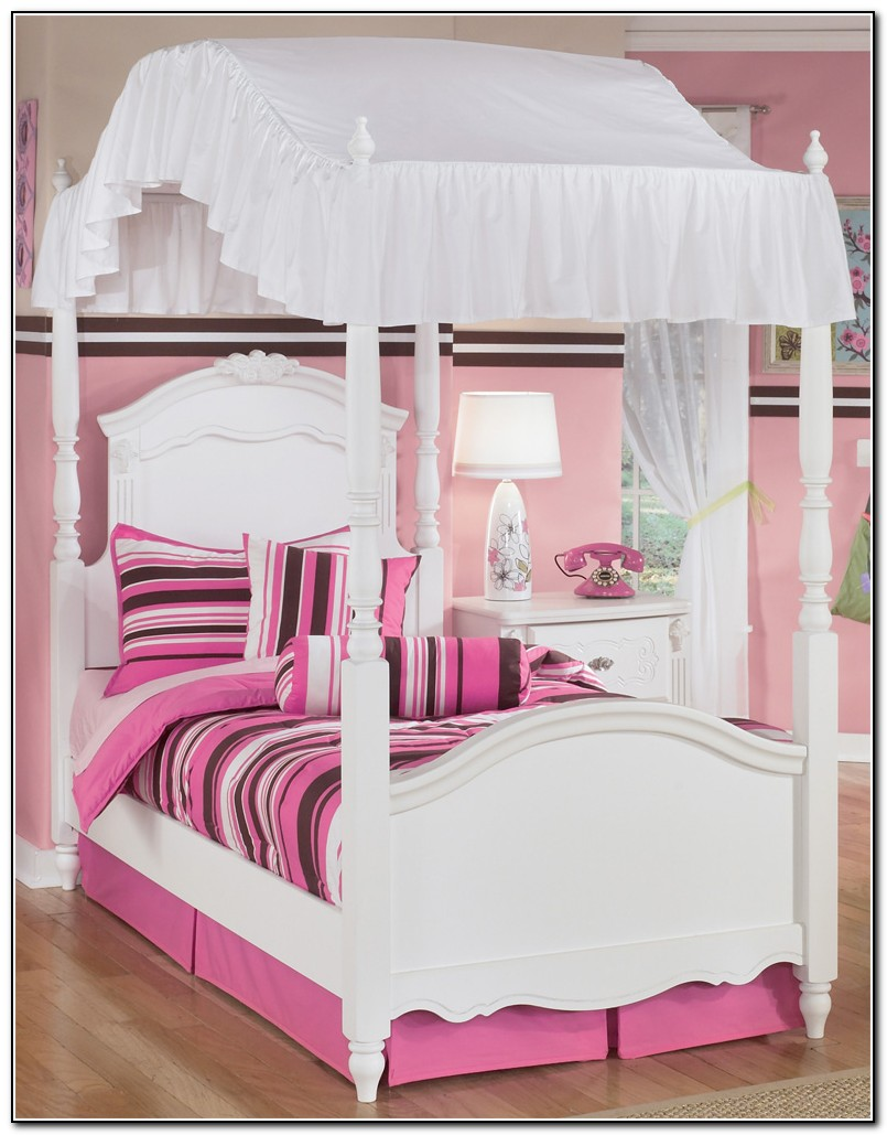 Girls Twin Canopy Bed