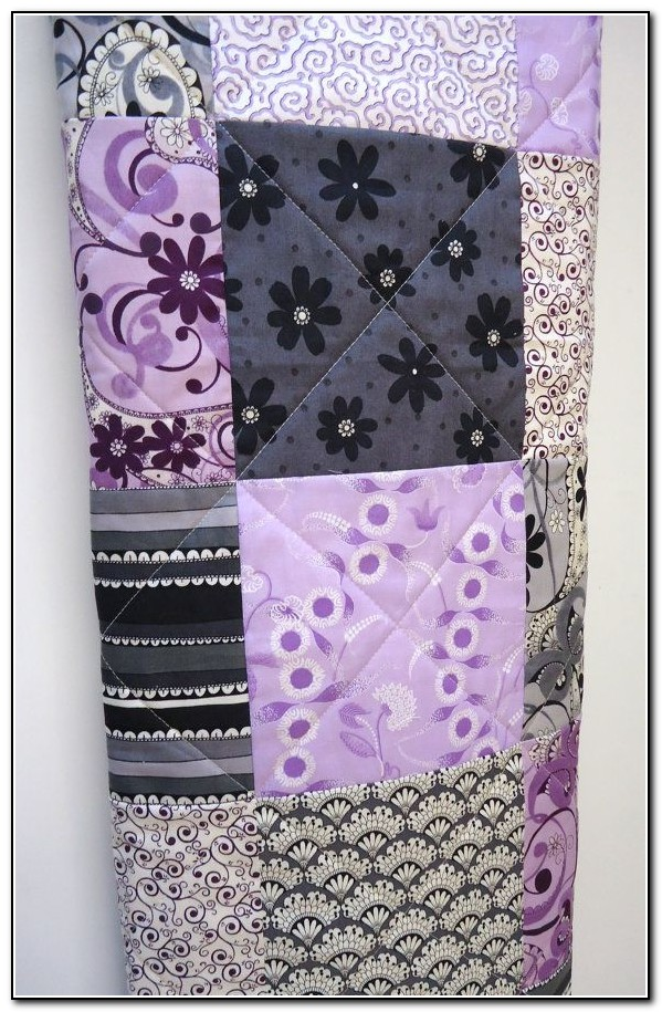 Gray And Purple Baby Bedding