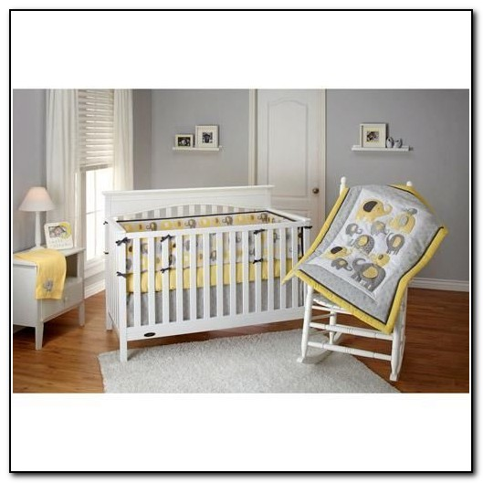 Grey Elephant Baby Bedding