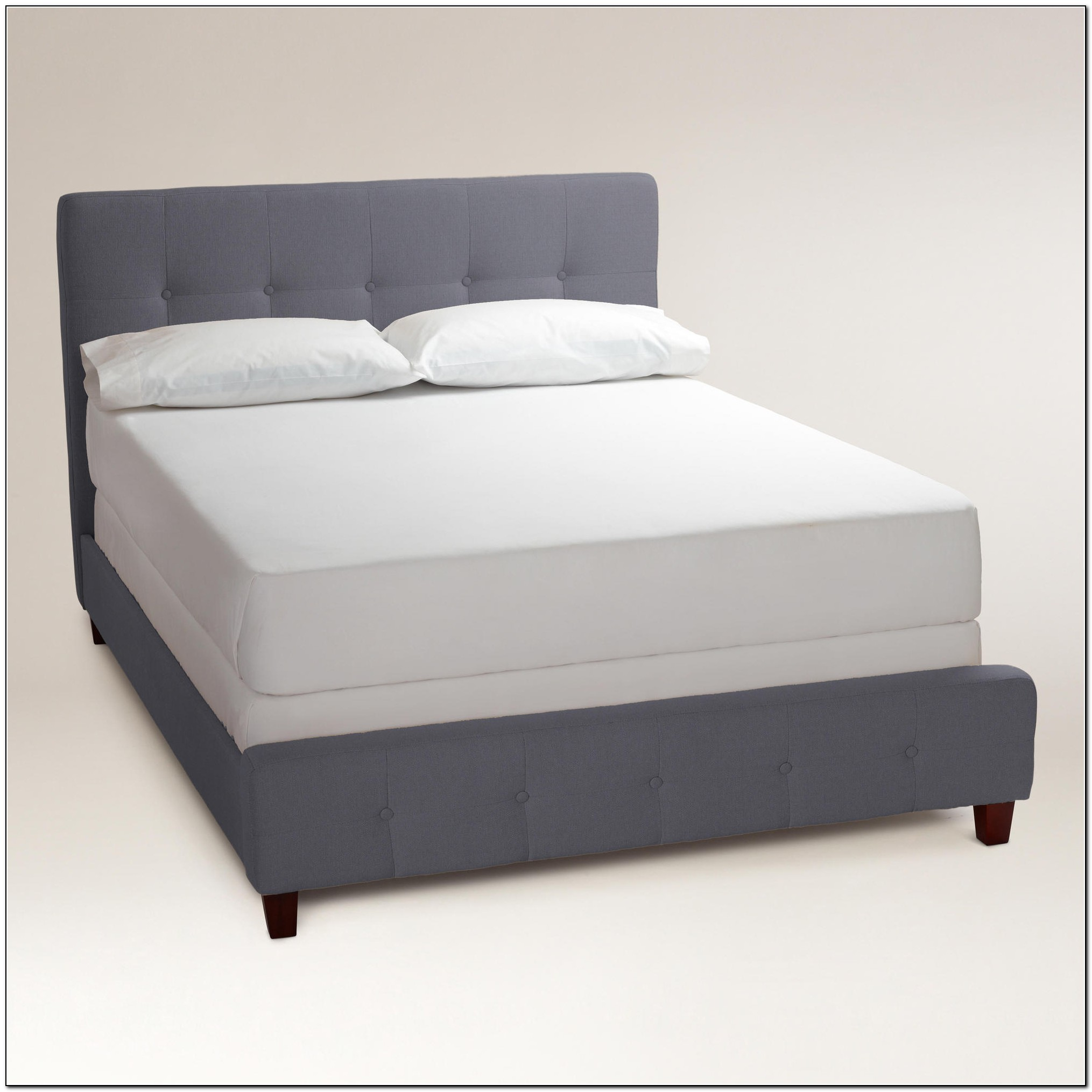 Grey Upholstered Bed Frame