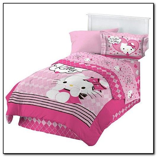 Hello Kitty Full Size Bedding Set