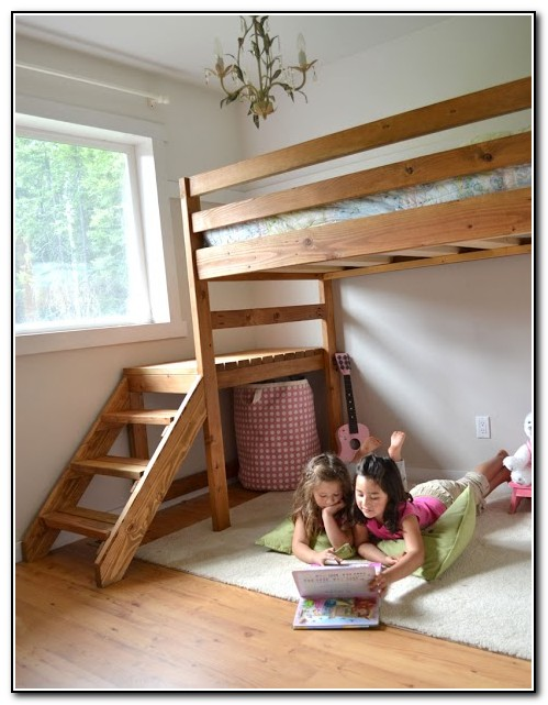 Loft Bed With Stairs Plans
