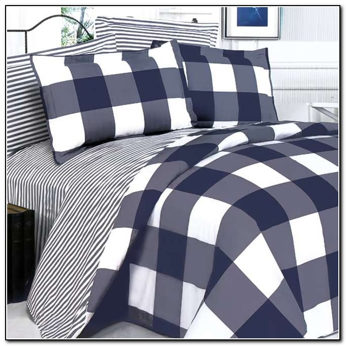 Navy And White Bedding King