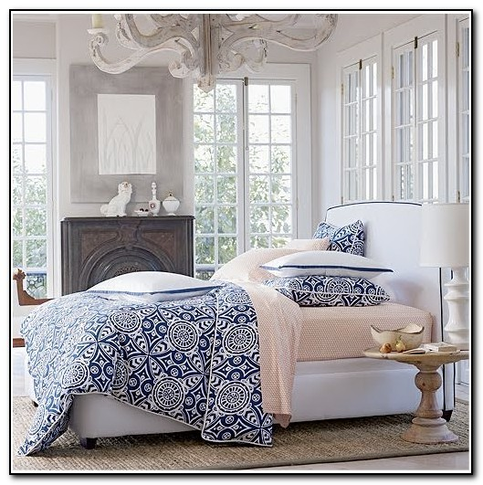 Navy And White Bedding Target