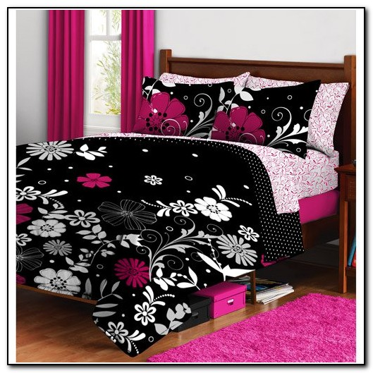 Pink And Black Bedding For Teenage Girls
