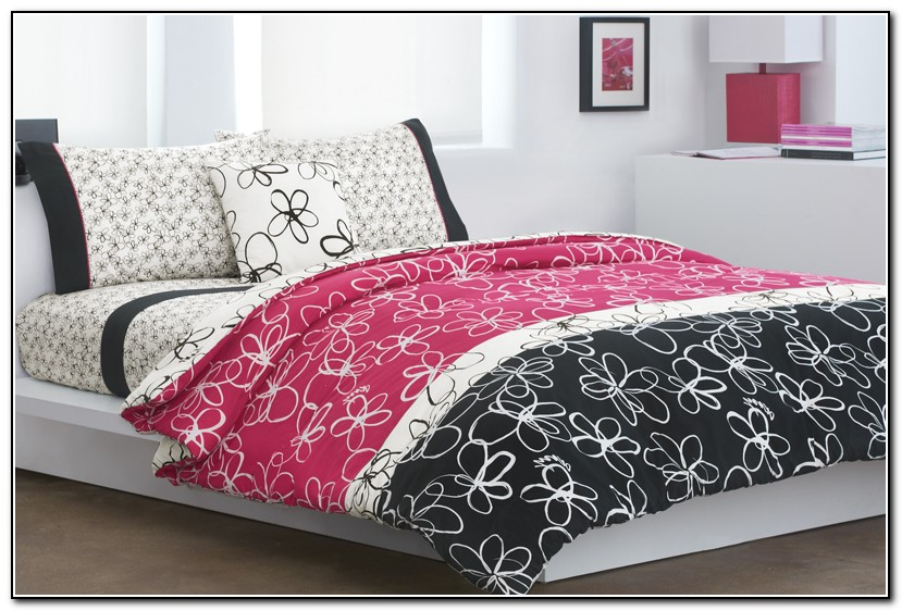 Pink And Black Bedding Sets