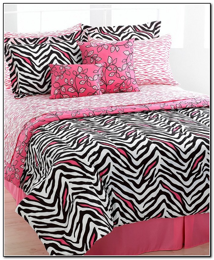 Pink Zebra Bedding Full