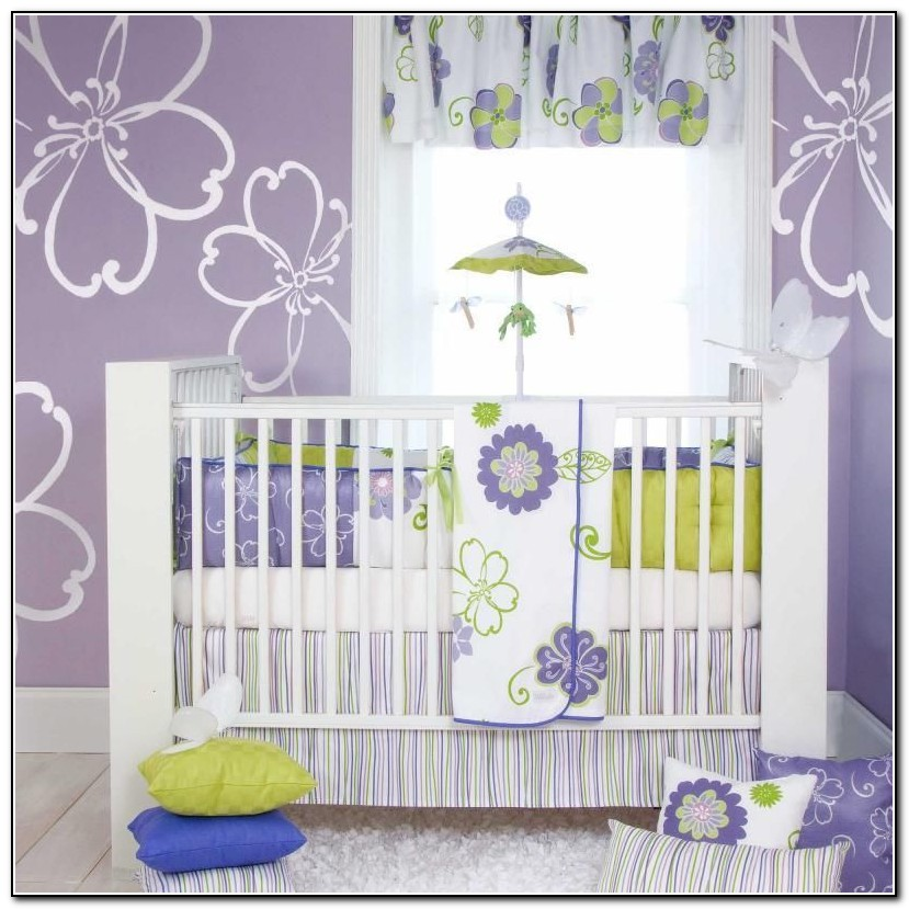 Purple Crib Bedding Cheap